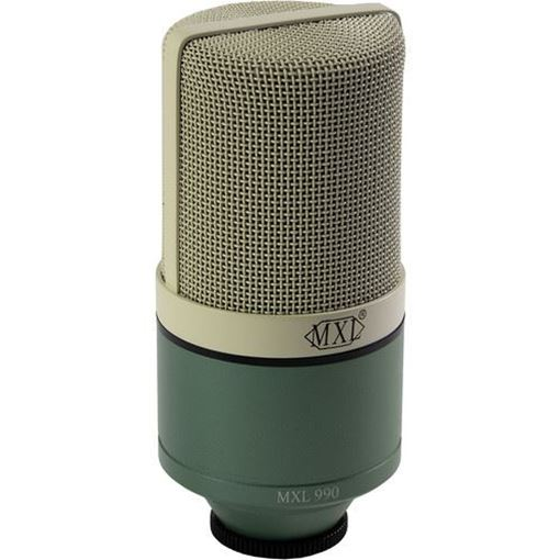 Picture of MXL 990 Condenser Microphone with Shockmount and Carrying Case (Surf Green)
