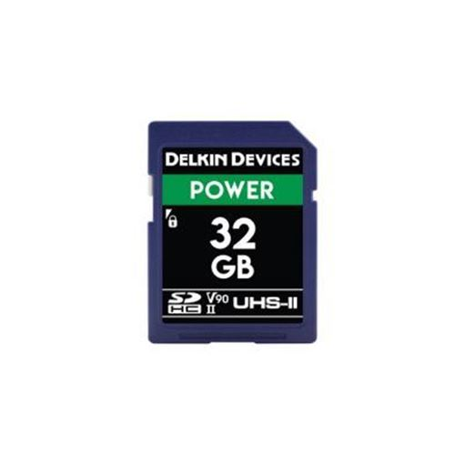 Picture of Delkin Devices SD UHS-II V90 POWER MEMORY CARD 32GB - 300MB/s Read/250MB's Write