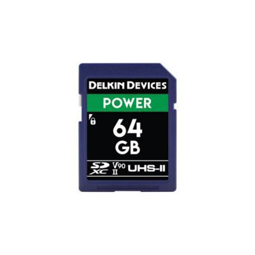 Picture of Delkin Devices SD UHS-II V90 POWER MEMORY CARD 64GB - 300MB's Read/250MB's Write