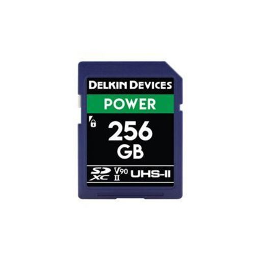 Picture of Delkin Devices SD UHS-II V90 POWER MEMORY CARD 256GB - 300MB's Read/250MB's Write