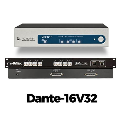Picture of Movek DANTE-16V32 Dante to myMix interface for 16 audio channels