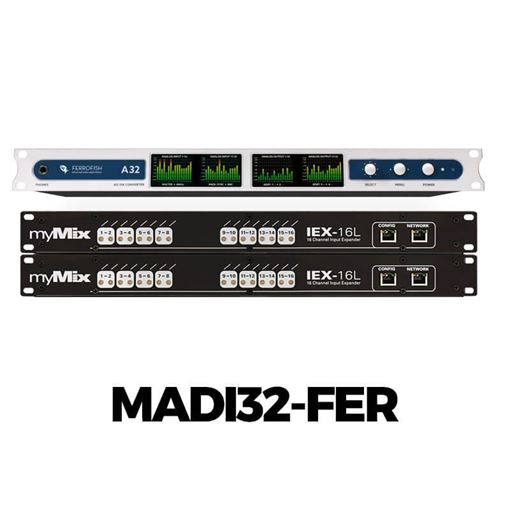 Picture of Movek MADI-32FER MADI to myMix Interface for 32 audio channels