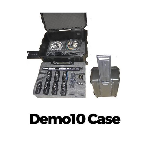 Picture of Movek Demo 10 Case Professional hard case with custom foam for 8 myMix, 1 IEX16 and 1 POWER8 switch