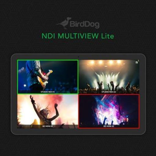 Picture of BirdDog Multiview Lite - NDI Multiviewer. Create up to six, 2x2 outputs