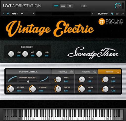 Picture of PSound Vintage Electric Electric Piano Rhodes emulation. Download