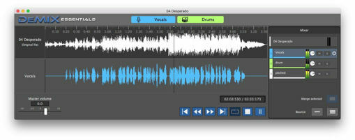 Picture of AudioSourceRE DeMIX Essentials Easy Spectral Audio Separation editor Download