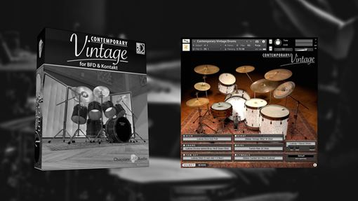 Picture of Chocolate Audio Contemporary Vintage Drums (BFD & Kontakt) Download
