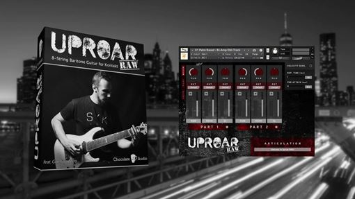Picture of Chocolate Audio Uproar Vol. 2 - 8 String Guitar For Kontakt Download