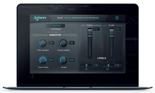 Picture of Antares Duo Vocal Modeling Auto-Doubling Plugin Download