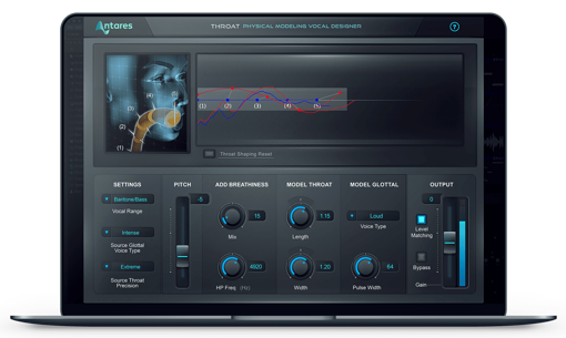 Picture of Antares Throat Physical Modeling Vocal Designer Plugin Download