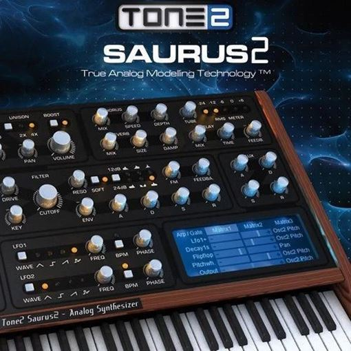 Picture of Tone 2 Saurus 2 Affordable Virtual analog synthesizer Download