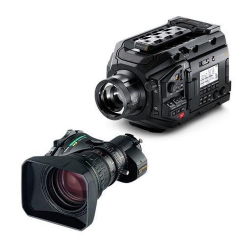 Picture of Blackmagic Design URSA Broadcast Camera & Fujinon XA20sx8.5BERM-K3 ENG MS-01 Semi Servo Rear Control Accessory Kit