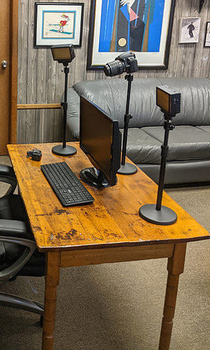 Picture of Bescor 2 LED70 Lights, 3 Desktop Light Stand, 3 SM2, Phone Mount, AC Adapters Streaming Kit