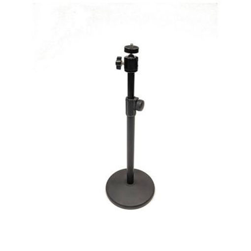 "Picture of Bescor Table Top Light Stand w/ 3lb Weighted Circular Base & 1/4"" 20 Mount. Also includes SM2 Ball Mount"