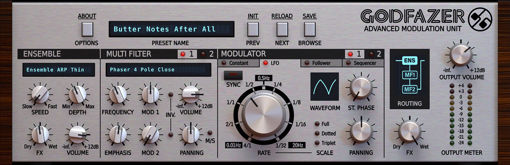 Picture of D16 GodFazer Swiss Army Knife of Modulation Effects Audio Plugin Download