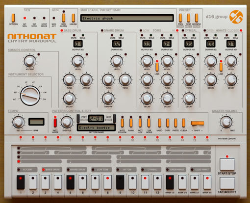Picture of D16 Nithonat Superb TR-606 emulation Virtual Instrument Download