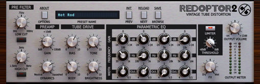 Picture of D16 Redoptor 2 2nd Generation Vintage Tube Distortion Audio Plugin Download