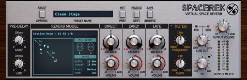 Picture of D16 Spacerek Reverb from real-world spaces Audio Plugin Download