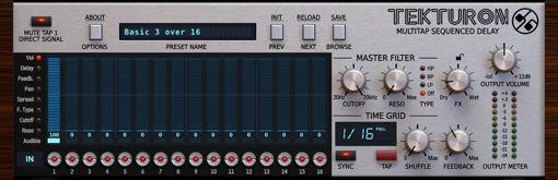 Picture of D16 Tekturon Multi-tap delay effect Audio Plugin Download