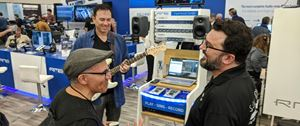 """Fundamental AV Systems at NAMM. featuring our TB31015 15"""" laptop in action!"""
