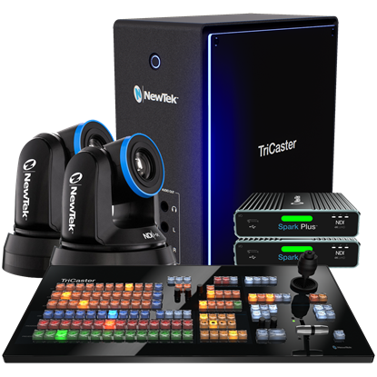 Picture of NEWTEK TRICASTER MINI 4K|NDI DELUXE BUNDLE WITH PTZ CAMERA