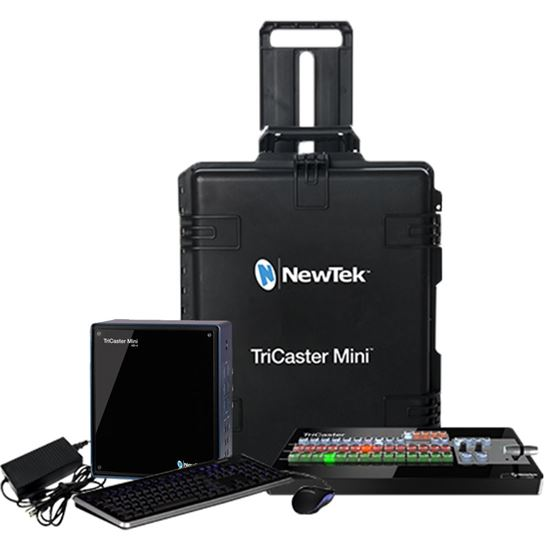 Picture of NEWTEK TRICASTER MINI ADVANCED HD-4 & MINI CONTROL SURFACE BUNDLE WITH TRAVEL CASE