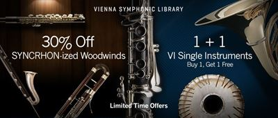 Promotion: 30% Off Vienna Symphonic Library - SYNCHRON-ized Woodwinds